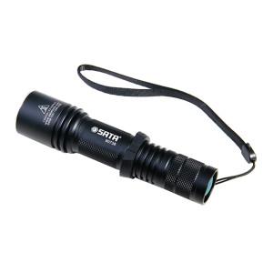SATA/世达 高性能强光充电式手电筒 SATA-90738 238lm 配置锂离子充电电池 6档调光 1只