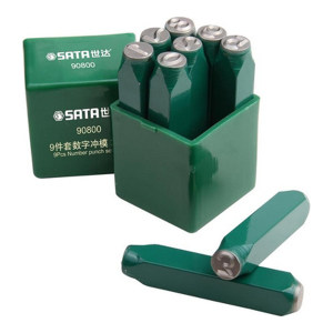SATA/世达 9件数字冲模 SATA-90803 包装易损!6mm9件(0-8) 1套