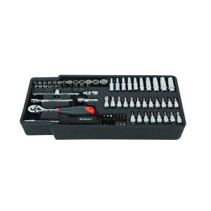 SHEFFIELD/钢盾 工具托-6.3MM系列套筒组合(64件) S025021 64件 1套