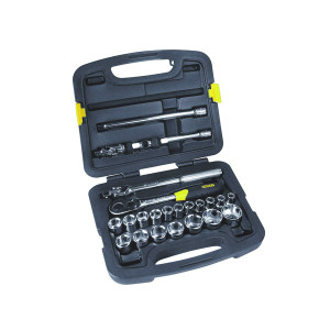 STANLEY/史丹利 12.5MM系列公制套筒组套(24件) 91-939-22 24件 10-32mm 1套