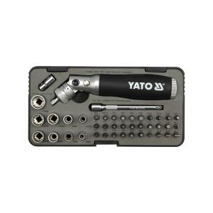 YATO/易尔拓 高档棘轮螺丝批组套(42件) YT-2806 42件 6-13mm 1套