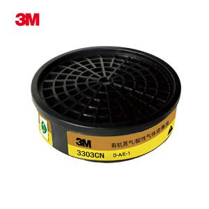 3M 1200/3000系列防毒滤盒 3303CN 防护有机/酸性气体 1个