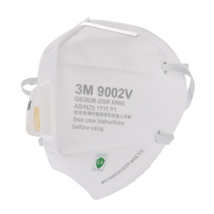 3M 9000系列折叠式防颗粒物口罩 9002V KN90 头戴式 带阀 1个