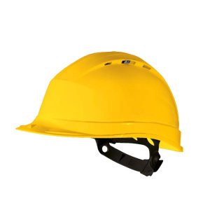 DELTA/代尔塔 QUARTZ1系列PP安全帽 102012 黄色(JA) 8点式LDPE内衬 不含下颏带 1顶
