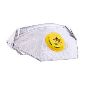 DELTA/代尔塔 可折叠活性炭颗粒物防护口罩 104104 FFP2 头戴式 带阀 1个
