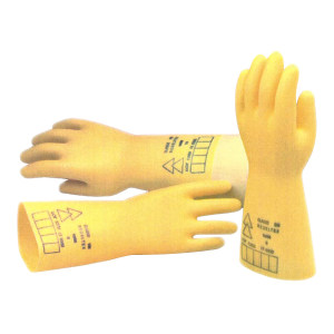 DELTA/代尔塔 5kV乳胶绝缘手套 207001 10码 工作电压1kV 1副