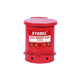 SYSBEL/西斯贝尔 油渍废弃物防火垃圾桶 WA8109100 红色 6GaI/22.6L 1个