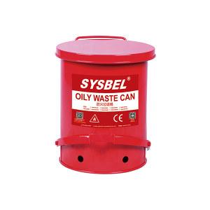 SYSBEL/西斯贝尔 油渍废弃物防火垃圾桶 WA8109500 红色 14gal(52.9L) 1个