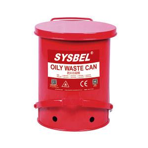 SYSBEL/西斯贝尔 油渍废弃物防火垃圾桶 WA8109700 红色 21gal(79.3L) 1个