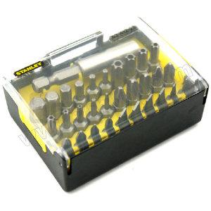 STANLEY/史丹利 6.3MM系列旋具头和快脱磁性接杆组套A 63-401-23 31件(透明盖塑盒) 1套