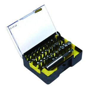 STANLEY/史丹利 6.3MM系列旋具头和快脱接杆组套B 63-412-23 31件(透明盖塑盒) 1套