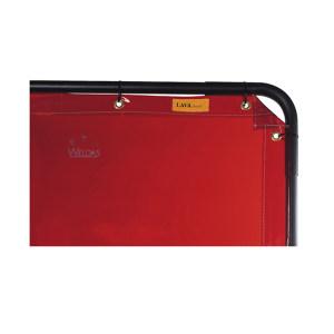 WELDAS/威特仕 橙红色焊接防护屏 55-6468 1.74m高*2.34m宽 1张