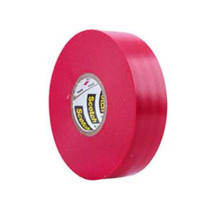 3M PVC电气绝缘胶带-优质相色 35# 红色 19mm×20.1m 厚0.177mm 1卷