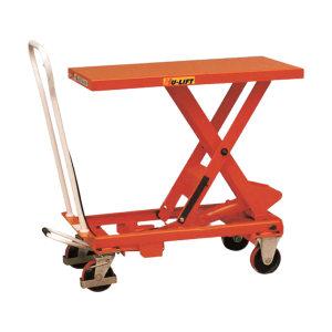 HULIFT/虎力 BS型脚踏式手动平台车 BS15 额定载荷150kg 平台尺寸700×450mm 高度范围265~755mm 1辆