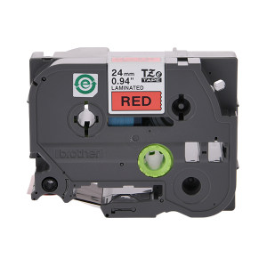 BROTHER/兄弟 标准覆膜标签色带 TZe-451 红底黑字 24mm宽 1卷