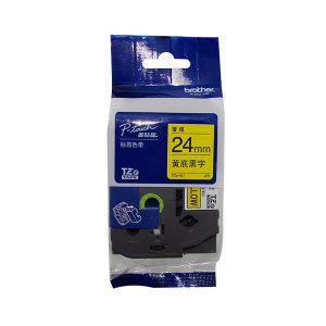 BROTHER/兄弟 标准覆膜标签色带 TZe-651 黄底黑字 24mm宽 1卷