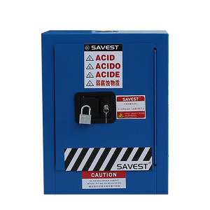 SAVEST/赛维斯特 弱腐蚀性液体防火安全柜 WB810040 4gal 单门 手动 蓝色 1台