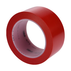 3M PVC单色地面标识胶带 471 红色 48mm*33m 1卷