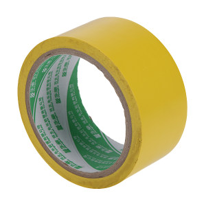 YONGLE/华夏永乐 PVC地面警示划线胶带 JS140 黄色 48mm×22m 1卷