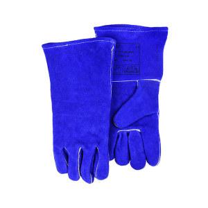 WELDAS/威特仕 彩蓝色斜拇指焊接手套 10-0160 L 35cm 1副