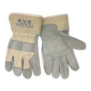 WESTUN/威仕盾 半皮手套 G-2215 灰色 26cm 1副