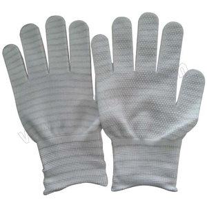 ANSEN/安森 13针涤纶防静电点塑手套 AS1014 L 1包