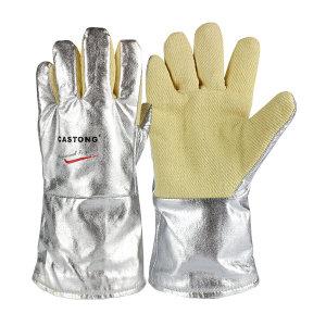 CASTONG/卡司顿 YARR系列500℃铝箔耐高温手套(耐磨型) YARR15-34 均码(M) 长34cm 1副