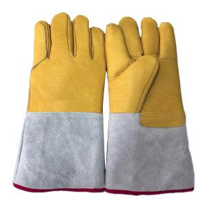 SAIMEN/赛门 皮革低温液氮防护手套 SM-1046B 均码 36cm 1副