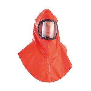 DELTA/代尔塔 大面屏液密防化头罩 401001 均码 橙色 1件