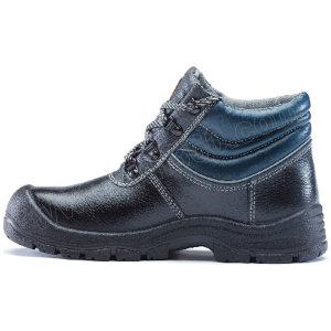 U-WORK/优工 蓝典款中帮牛皮安全鞋 PAZ-B2220 45码 黑色 防砸防刺穿 1双