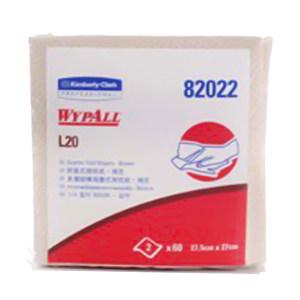 KIMBERLY-CLARK/金佰利 WYPALL*劲拭*L20折叠式工业擦拭纸 82022 棕色 27*27.5cm 木浆 1包