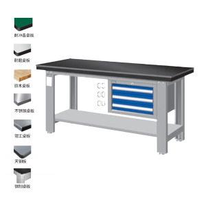 TANKO/天钢 层板工作台 WAS-64031A W1800×D750×H800mm 钳工桌板 1个