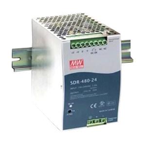 MW/明纬 SDR-480系列480W单组输出工业用DIN导轨型有PFC功能电源 SDR-480-24 1台