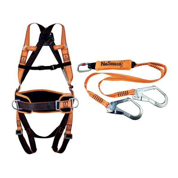 DELTA/代尔塔 舒适型防坠套装 506102 含HAR14安全带+AN219CDD双大钩减震绳 ENKIT02 1套