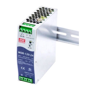 MW/明纬 WDR-120系列120W单组输出导轨型工业电源 WDR-120-24 1个