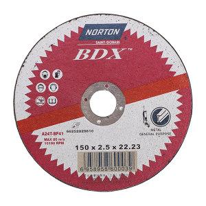 NORTON/诺顿 BDX通用金属切割片 AB704 150x2.5x22.2 400片 1盒