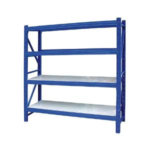 AIWIN 中型货架主架 1500*600*2000/4层梁 1500×600×2000 承重250kg 立柱横梁蓝色 层板灰色 立柱2支/组 横梁8支/组 层板8块/组 1组