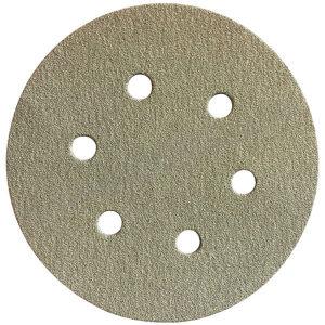 FUJISTAR/富士星 背绒砂碟圆形(6孔氧化铝) HR-AA-180 Φ5 180# 100张 1盒