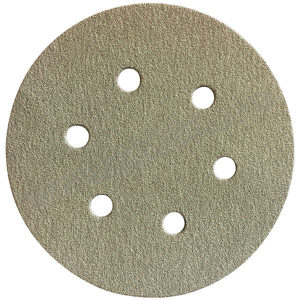 FUJISTAR/富士星 背绒砂碟圆形(6孔氧化铝) HR-AA-320 Φ5 320# 100张 1盒