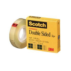 3M PVC双面胶带 665 透明 12.7mm×22.8m 1卷