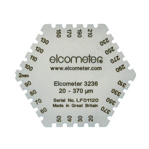 ELCOMETER/易高 六角湿膜梳 Elcometer 3236 20~370μm 1片