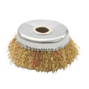 YONGKANG/永康 碗型钢丝轮(无螺纹) 100*16 100*16 黄丝 实际规格为82 1只