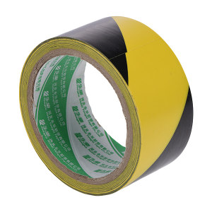 YONGLE/华夏永乐 PVC地面警示划线胶带 JS140 黄黑 60mm*18m 1卷