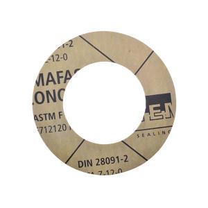 TEMAC/太美 无石棉垫片TC-50,中国化工标准 DN50,PN16,T=3mm,TC-50,HG/T20606-2006 黄色 RF面,DN50,PN16,T=3mm, 1组