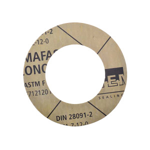 TEMAC/太美 无石棉垫片TC-50,中国化工标准 DN100,PN16,T=1.5mm,TC-50,HG/T20606-2006 黄色 RF面,DN100,PN16,T=1.5mm, 1组