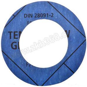 TEMAC/太美 无石棉垫片TC-30,中国化工标准 DN80,PN16,T=3mm,TC-30,HG/T20606-2006 蓝色 RF面,DN80,PN16,T=3mm, 1组