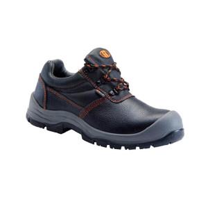 U-WORK/优工 经典款低帮牛皮安全鞋 PAD-A4221 39码 黑色 防砸防刺穿防静电 1双