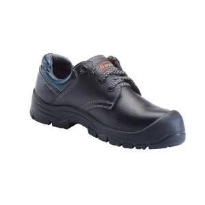 U-WORK/优工 蓝典款低帮牛皮安全鞋 PAD-B2221 43码 黑色 防砸防刺穿防静电 1双