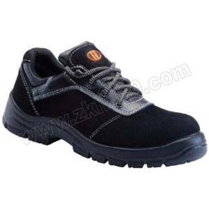 U-WORK/优工 翻毛皮低帮安全鞋 PAD-E1511 39码 黑色 防砸防静电 1双
