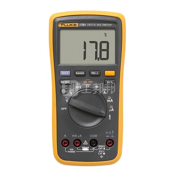 FLUKE/福禄克 数字万用表 FLUKE-17B+ 600V CatIII安全设计指标 显示范围大出50% 背光为明亮白色 二极管测试 数据保持 1台
